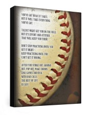 You've Got What It Takes Baseball Canvas Nhg07 20x24 Gallery Wrapped Canvas Prints front