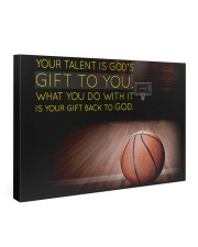 Your Talent Is God's Gift To You Basketball Gallery Wrapped Canvas Prints tile