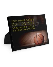 Your Talent Is God's Gift To You Basketball 10x8 Easel-Back Gallery Wrapped Canvas thumbnail