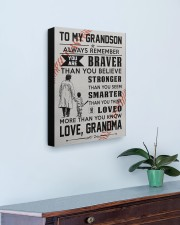 To My Baseball Grandson - Love Grandma 16x20 Gallery Wrapped Canvas Prints aos-canvas-pgw-16x20-lifestyle-front-01