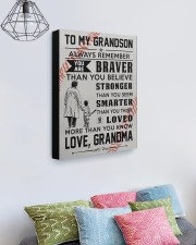 To My Baseball Grandson - Love Grandma 16x20 Gallery Wrapped Canvas Prints aos-canvas-pgw-16x20-lifestyle-front-02