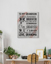 To My Baseball Grandson - Love Grandma 16x20 Gallery Wrapped Canvas Prints aos-canvas-pgw-16x20-lifestyle-front-03