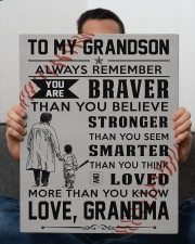 To My Baseball Grandson - Love Grandma 16x20 Gallery Wrapped Canvas Prints aos-canvas-pgw-16x20-lifestyle-front-25