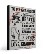 To My Baseball Grandson - Love Grandma 16x20 Gallery Wrapped Canvas Prints front