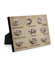Baseball Pitching Grips 10x8 Easel-Back Gallery Wrapped Canvas thumbnail