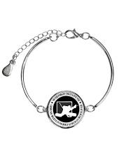 Never Forget That I Love You Hockey Nhg07 Metallic Circle Bracelet thumbnail