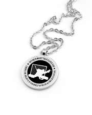 Never Forget That I Love You Hockey Nhg07 Metallic Circle Necklace aos-necklace-circle-metallic-lifestyle-05