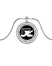 Never Forget That I Love You Hockey Nhg07 Metallic Circle Necklace front