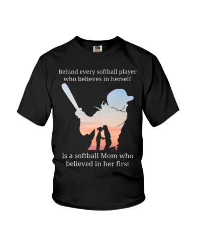Behind every softball player