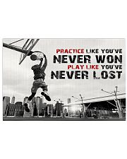 Motivational Basketball 17x11 Poster front