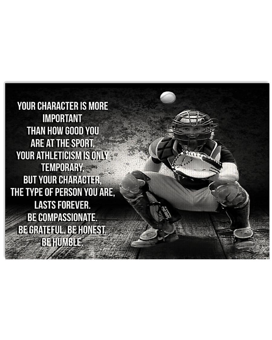 BE GRATEFUL BE HONEST BE HUMBLE Baseball ver 36x24 Poster