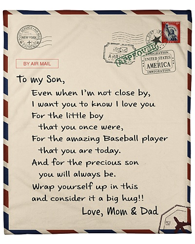 Baseball Letter Blanket Mom and Dad Ver Nhg07