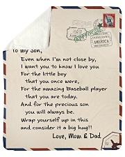 "Baseball Letter Blanket Mom and Dad Ver Nhg07 Sherpa Fleece Blanket - 50"" x 60"" thumbnail"