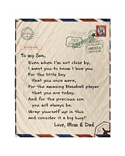 """Baseball Letter Blanket Mom and Dad Ver Nhg07 Quilt 40""""x50"""" - Baby thumbnail"""