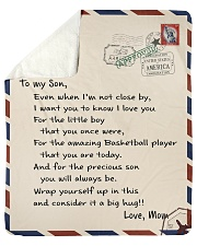 "Basketball Letter Blanket Sherpa Fleece Blanket - 50"" x 60"" thumbnail"