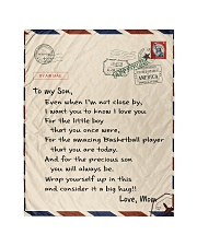 Basketball Letter Blanket Quilt tile
