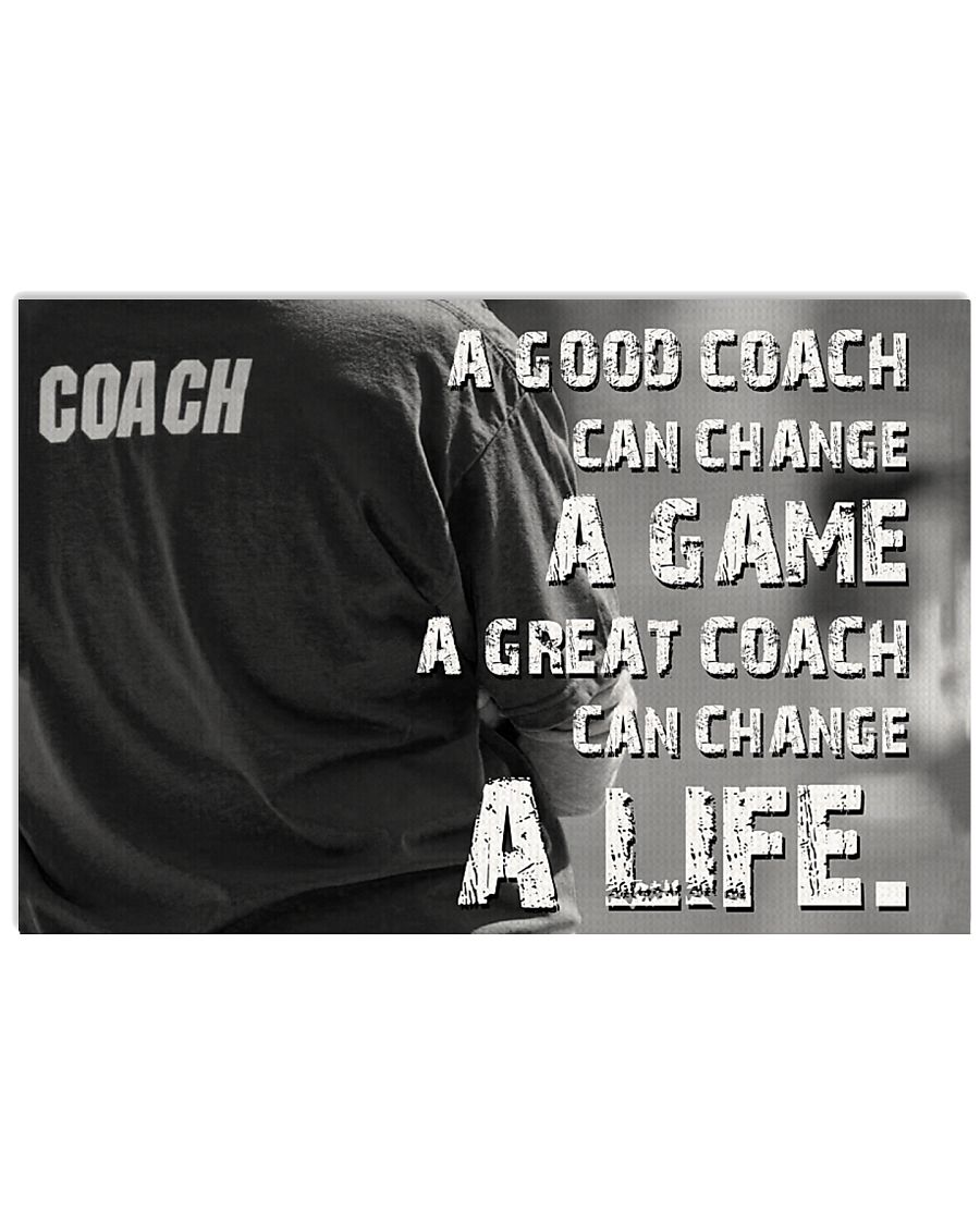 A Great Coach Can Change A Life Baseball 36x24 Poster