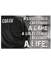 A Great Coach Can Change A Life Baseball 36x24 Poster front