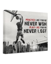 Practice Basketball Canvas Nhg07 24x20 Gallery Wrapped Canvas Prints front