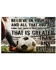 Believe In Yourself Soccer Version 36x24 Poster front