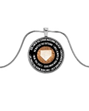 I'm Always Proud of You - Mom version Metallic Circle Necklace front