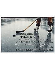 Dear Mom Thanks For Everything Hockey version 17x11 Poster front