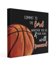 Commit To The Lord Basketball ver Nhg07 16x16 Gallery Wrapped Canvas Prints front