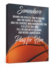 Play For Him Basketball Canvas Nhg07 20x24 Gallery Wrapped Canvas Prints front