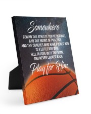 Play For Him Basketball Canvas Nhg07 8x10 Easel-Back Gallery Wrapped Canvas thumbnail