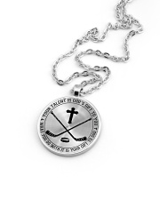 Your talent is God's gift to you Hockey Nhg07 Metallic Circle Necklace aos-necklace-circle-metallic-lifestyle-05