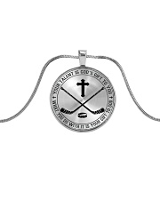 Your talent is God's gift to you Hockey Nhg07 Metallic Circle Necklace front