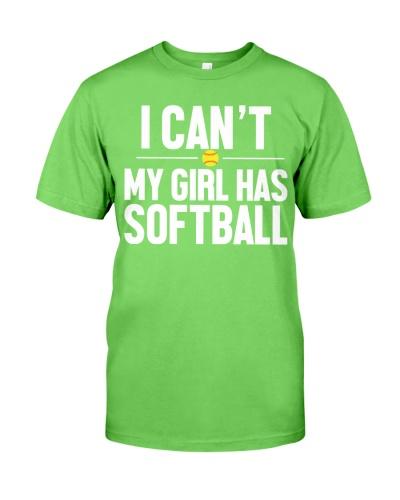 I can't my girl has softball
