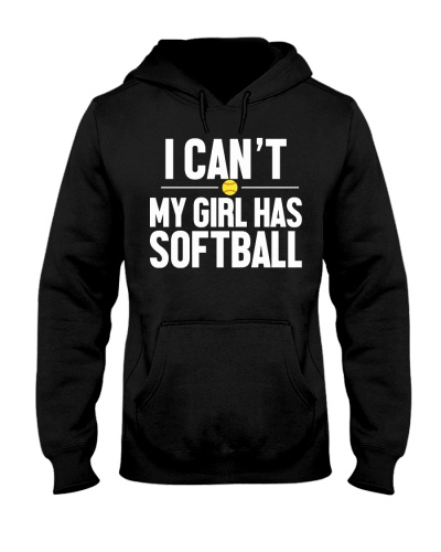 I can't my girl has softball