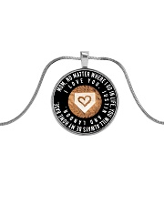 Customized Necklace - Justin Metallic Circle Necklace front