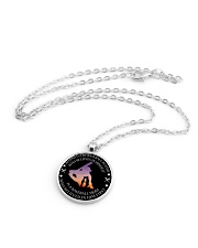 Behind Every Baseball Player Is Baseball Mom Metallic Circle Necklace aos-necklace-circle-metallic-lifestyle-03