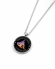 Behind Every Baseball Player Is Baseball Mom Metallic Circle Necklace aos-necklace-circle-metallic-lifestyle-04