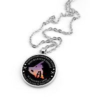Behind Every Baseball Player Is Baseball Mom Metallic Circle Necklace aos-necklace-circle-metallic-lifestyle-05