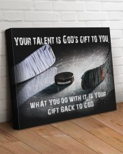 Your talent is God's Gift Hockey Canvas Nhg07 24x20 Gallery Wrapped Canvas Prints aos-canvas-pgw-24x20-lifestyle-front-08