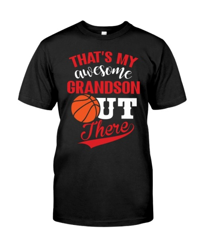 That's my awesome Basketball grandson out there