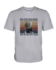 Pilot Mike Echo Oscar Whisky V-Neck T-Shirt thumbnail