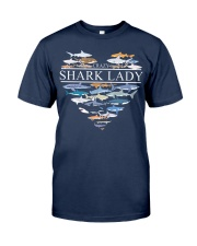 CRAZY SHARK LADY Classic T-Shirt front