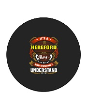 HEREFORD Perfect Name Shirt Circle Coaster thumbnail