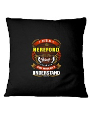 HEREFORD Perfect Name Shirt Square Pillowcase thumbnail