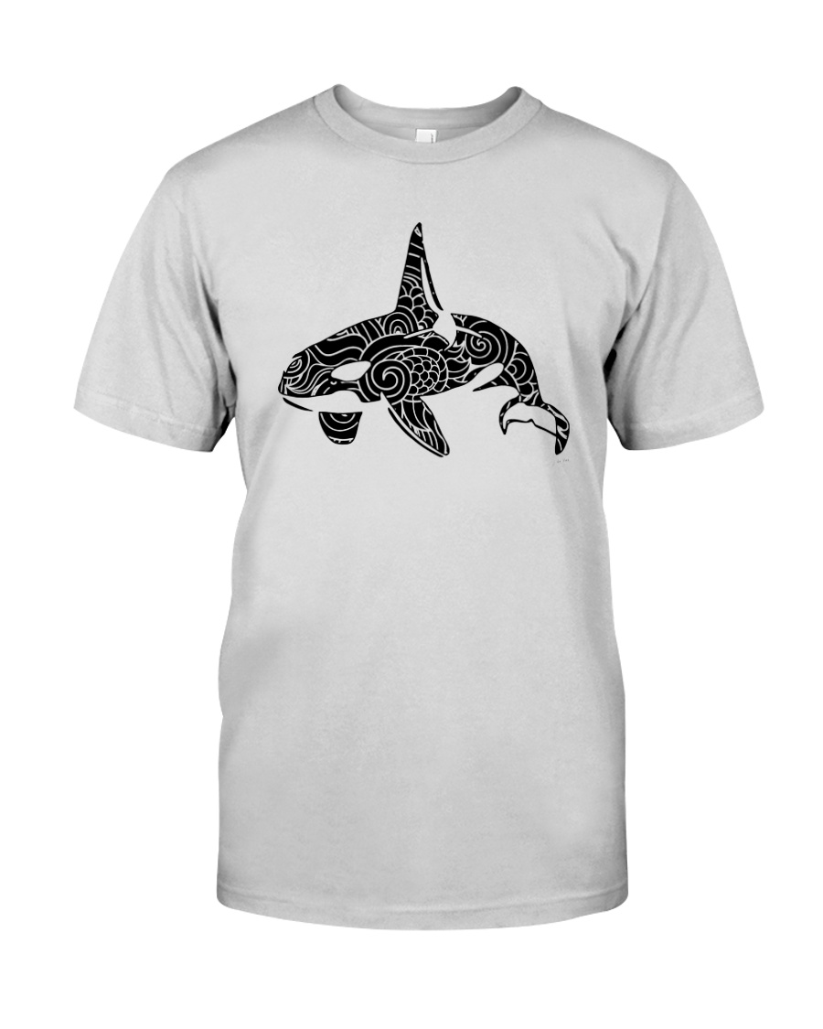 Zen Art Orca Design Premium Fit Mens Tee