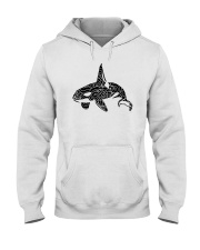 Zen Art Orca Design Hooded Sweatshirt thumbnail