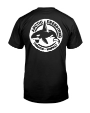 Arctic Freediving - Black Logos Front and Back Premium Fit Mens Tee back