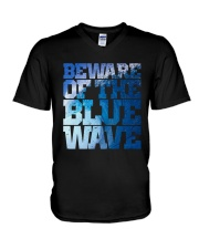 Beware Of The Blue Wave - Limited Edition Merch V-Neck T-Shirt thumbnail