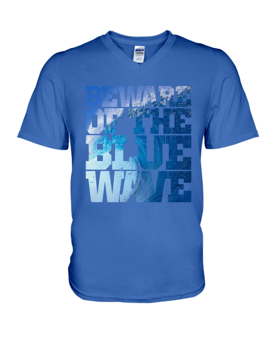 Beware Of The Blue Wave - Limited Edition Merch V-Neck T-Shirt