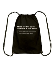 Those Who Can Extrapolate - LIMITED PIECES LEFT Drawstring Bag thumbnail