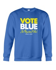 Vote Blue No Matter Who Crewneck Sweatshirt tile